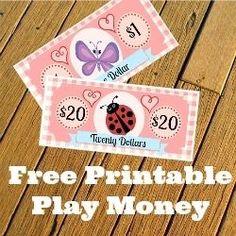 Free printable play money - imaginary and realistic fake dollars