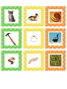 Spanish Rhyming Cards with Photos ($1 on TPT)
