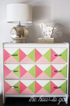 The How-To Gal: Geometric Dresser DIY