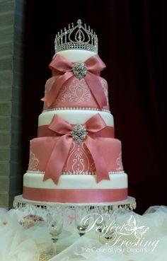 Pink Royal Wedding Cake