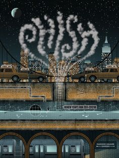 Phish concert poster by DKNG