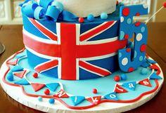 British theme birthday cake