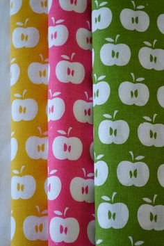 APPLES hand printed fabrics