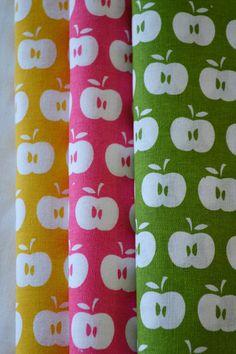 APPLES hand printed fabrics