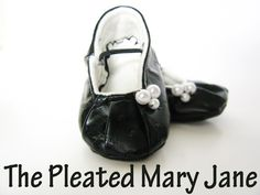 Shwin: The Pleated Mary Jane Revisited - baby shoe tutorial