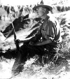 Roy Chapman Andrews. His life was the basis for the character of Indiana Jones. He explored Mongolia and brought back dinosaur fossils, some of them are on display at the Museum of Natural History in New York.