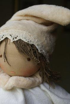 Waldorf Doll - Organic - Waldorf baby doll - Waldorf pocket doll - small waldorf doll - steiner doll - cloth doll - puppen