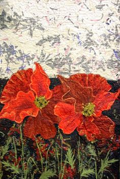 The Commonwealth Remembers: Coming Home (detail) by Senga Bain.  Poppy quilt.  Photo by Crafting a Life: 2014  Loch Lomond Quilt Show