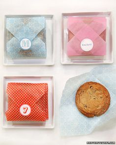 cookie envelopes.