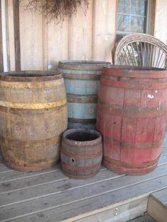 One of my favorite things!  Barrels.
