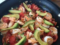 Seared shrimp with tomato and avocado! http://www.appforhealth.com/2013/03/seared-shrimp-with-tomato-and-avocado/