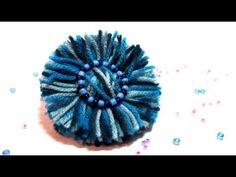 Tutorial: Flores de lana. Wool flowers. - YouTube