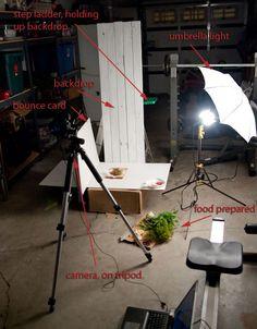 artificial light food photography setup