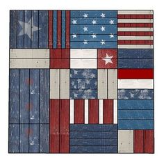 Liberty Wall art from scraps