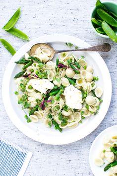 Orecchiette with Peas, Asparagus & Mascarpone