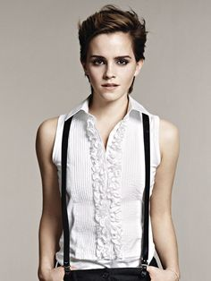 Totally HOT androgynous girl - Hogwarts never looked so damn good.