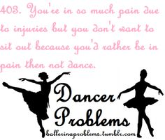 I have so much trouble with this, but as a dancer you HAVE to take care of your body.