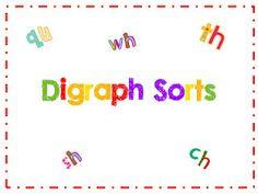 Digraphs Smartboard Literacy Workststation