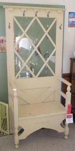 doors, door idea, repurpos vintag, repurpos decor, farmhouse, farmhous door, open door, door hall, hall trees