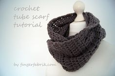crochet tube scarf tutorial...so simple, so cozy! DIY