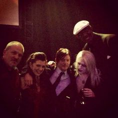 Norman Reedus with the cast of AMC's Freaksow