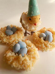 Easter food - cute coconut macaroon cookies  (no recipe)
