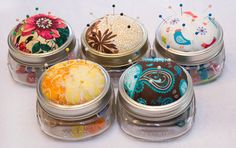 Handmade Mason Jar Pin Cushion Sewing Kit