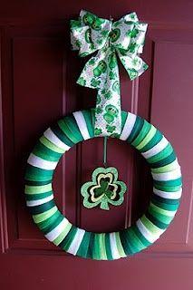 Felt st. Patrick's day wreath
