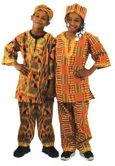 Vestimenta Africana tradicional.
