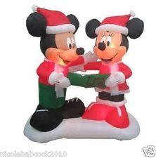 8FT CHRISTMAS SANTA DISNEY MICKEY MOUSE MINNIE AIRBLOWN INFLATABLE YARD DECOR!!