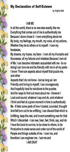 I am Me ... Virginia Satir