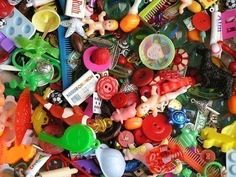 A grab bag of 50 items.  Would be great  for sorting or language activities.