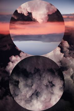 // graphic design, clouds, circles, sky, rock bands, art, photo manipulation, collag, the band
