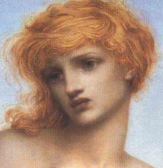 English Pre-Raphaelite painter Evelyn De Morgan (1855-1919)