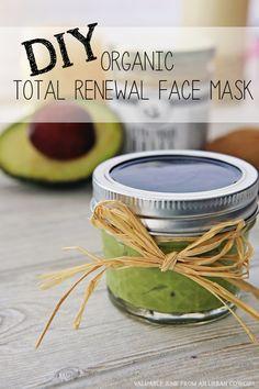 DIY Organic Total Renewal Face Mask  *fun gift for a friend...