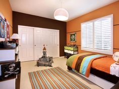 Kids Rooms Orange Boy Bedroom
