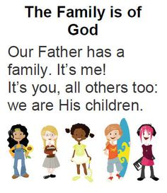 SINGING TIME IDEA: the family is of god flipchart ... I like some of the pictures