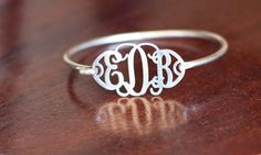 monogram ring This is so cute