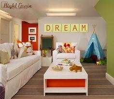 interior design, kid playroom, playroom design, green walls, color, playrooms, kids, kid room, aspen