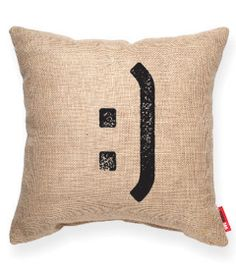 :] Burlap Decorative Pillow