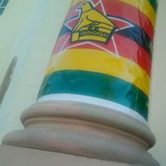 """High Court #Bulawayo all wrapped up"" for Zimbabwe Independence 2012 celebrations (18 April). By @nqobani_nyathi"