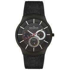 Skagen Men's SK809XLTBB Titanium Black Dial Watch $111.94