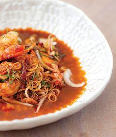 Spicy and sweet, KOH Thai Kitchen + Bar's Plaa Goong dish featuring fresh prawns is the ultimate flavour journey.