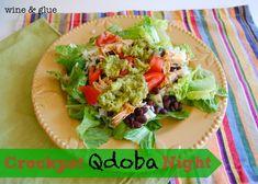 Crockpot Qdoba Night: An easy weeknight dinner! via www.wineandglue.com