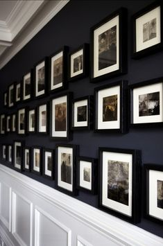 Detail of custom wall art and paneling in dining room. #Wall #Gallery #Pictures #Frames