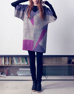 """""""Instead of buying a bolt of fabric that anyone down the block could buy, using recycled materials creates a more individual look"""" -Deborah Lindquist  Bodkin tunic - eco fashion"""