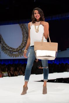 For when you can't choose between mink & metallic–The Bond Street Tote is even more beautiful in person. From the Stella Dot Hoopla Fashion Show 2014.