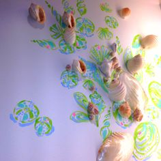Shell Wall Decor at Lilly Pulitzer Kenwood