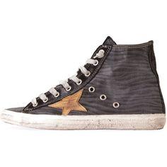Golden Goose Francy Sneaker ($538) ❤ liked on Polyvore