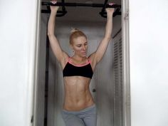 Learning Pull-ups .. awesome! Looks like even I could do them